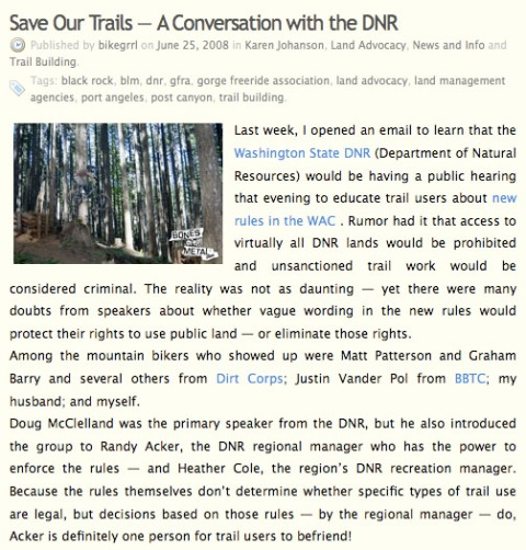 Save Our Trails - A Conversation with the DNR